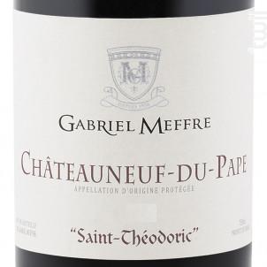 Châteauneuf-du-Pape - Saint-Théodoric - Maison Gabriel Meffre - 2016 - Rouge