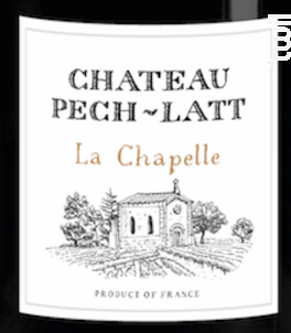 LA CHAPELLE - Chateau Pech-latt - 2015 - Rouge