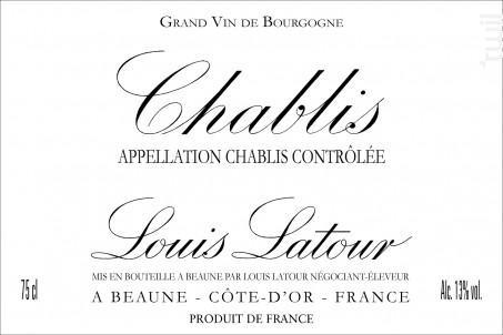 Chablis - Maison Louis Latour - 2018 - Blanc