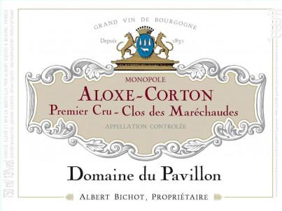 Aloxe-Corton Premier Cru Clos des Maréchaudes Monopole - Domaine du Pavillon - Domaines Albert Bichot - 2018 - Rouge