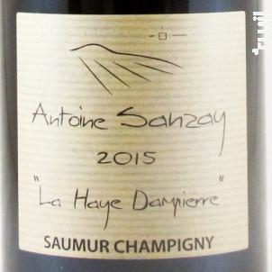 LA HAYE DAMPIERRE - Domaine Antoine Sanzay - 2018 - Rouge