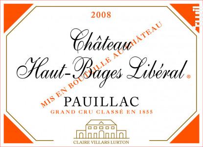 Château Haut-Bages Libéral - Château Haut-Bages Libéral - 2008 - Rouge