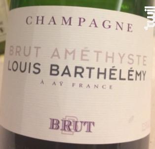 Brut Améthyste - Louis Barthélémy - Non millésimé - Effervescent