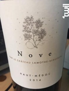 Nove - Château Lamothe Bergeron - 2015 - Rouge