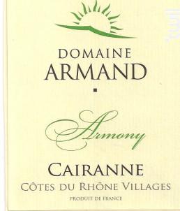 Armony - Domaine Armand - 2016 - Blanc
