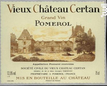 Vieux Château Certan - Vieux Château Certan - 2012 - Rouge