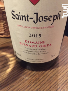 Saint-Joseph - Domaine Bernard Gripa - 2015 - Rouge