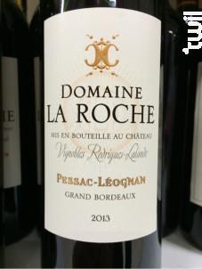 Domaine la Roche - Château Roche-Lalande - 2011 - Rouge