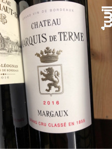 Château Marquis de Terme - Château Marquis de Terme - 2016 - Rouge