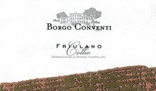 FRIULANO COLLIO - BORGO CONVENTI - 2013 - Blanc