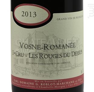 Vosne Romanée 1er Cru Les Rouges du Dessus - Domaine Roblot-Marchand - 2013 - Rouge