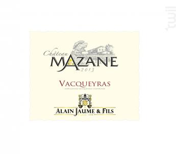 Château Mazane - Alain Jaume - 2014 - Rouge