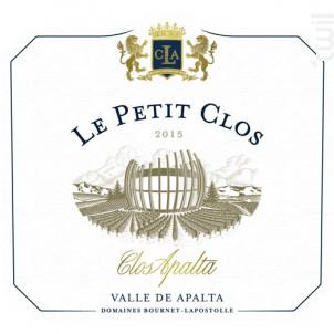 Petit Clos Second Vin De Clos Apalta - Casa Lapostolle - 2015 - Rouge