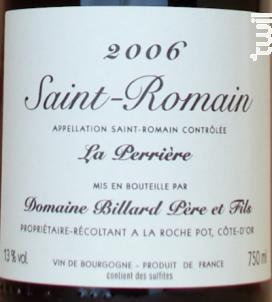 SAINT ROMAIN LA PERRIERE - Domaine Billard Père et Fils - 2013 - Rouge