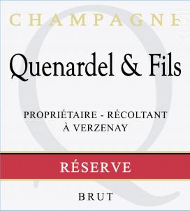 Réserve Brut - Champagne Quenardel et Fils - Non millésimé - Effervescent