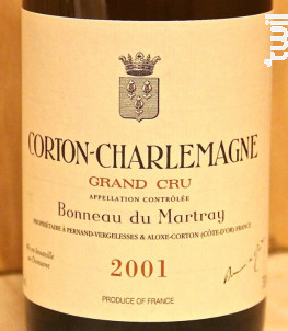 Corton-Charlemagne Grand Cru - Domaine Bonneau du Martray - 2000 - Blanc