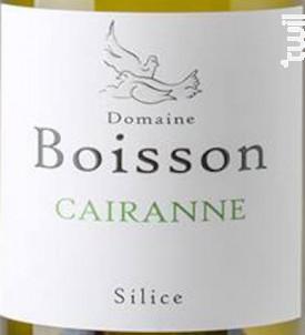Silice - Domaine Boisson - 2019 - Blanc