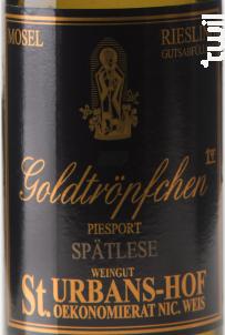 Riesling Piesporter Goldtropfchen Spätlese - Sankt Urbans-Hof - 2009 - Blanc