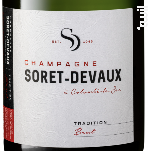Tradition • Brut - Champagne Soret-Devaux - Non millésimé - Effervescent