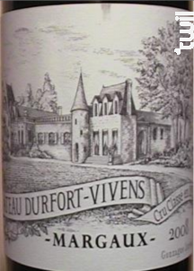 Château Durfort-Vivens - Château Durfort-Vivens - 2008 - Rouge