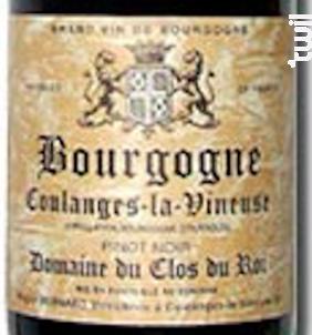 Bourgogne Coulanges La Vineuse - Domaine du Clos du Roi - 1992 - Rouge
