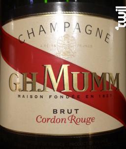 Brut Cordon Rouge - G.H. Mumm - Non millésimé - Effervescent
