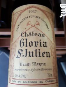 Château Gloria - Domaines Henri Martin - Château Gloria - 1974 - Rouge