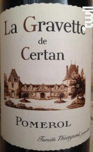 La Gravette de Certan - Vieux Château Certan - 2014 - Rouge