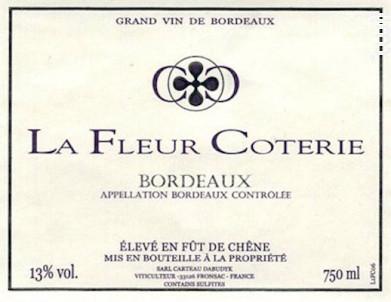 Château la Fleur Coterie - Château la Fleur Coterie - 2015 - Rouge