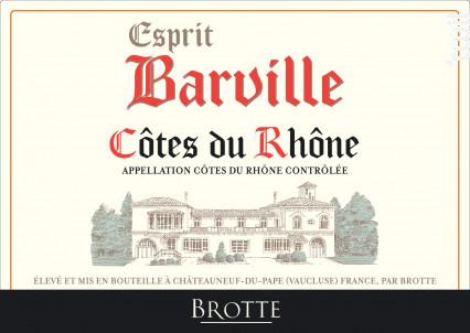 Esprit Barville - Maison Brotte • Les Domaines - 2019 - Blanc