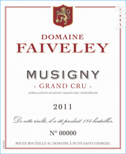 Musigny Grand Cru - Domaine Faiveley - 2018 - Rouge