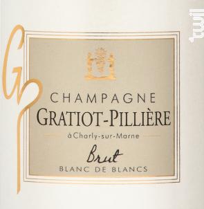 Brut Blanc de Blancs - Champagne Gratiot-Pillière - 2012 - Effervescent