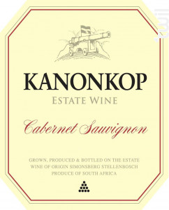 Cabernet sauvignon - KANONKOP - 2015 - Rouge