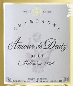 Amour de Deutz - Champagne Deutz - 2006 - Effervescent