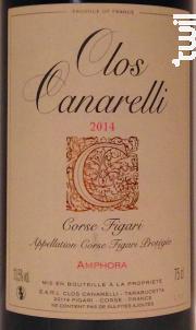 Amphora - Clos Canarelli - Yves Canarelli - 2017 - Rouge