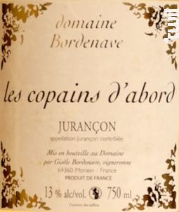 Les Copains d'Abord - Domaine Bordenave - 2016 - Blanc