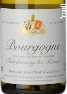 BOURGOGNE Chardonnay - Domaine Jean Pascal et Fils - 2016 - Blanc