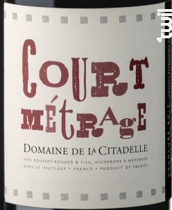 Court Metrage - Domaine de la Citadelle - 2019 - Rouge
