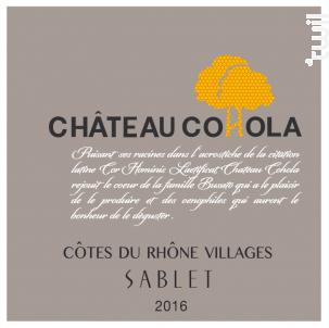 Château Cohola - COHOLA - 2016 - Rouge
