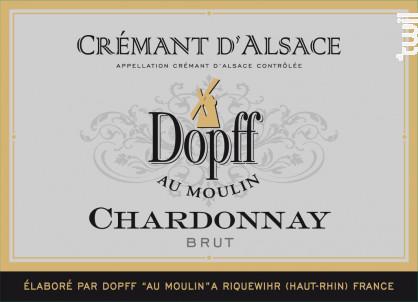 Crémant d'Alsace Chardonnay - Dopff Au Moulin - 2016 - Effervescent
