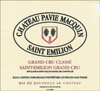 Château Pavie Macquin - Château Pavie Macquin - 2014 - Rouge