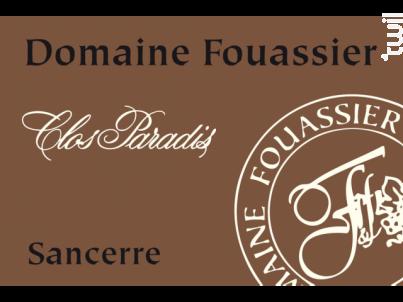 Clos Paradis - Domaine Fouassier - 2017 - Blanc