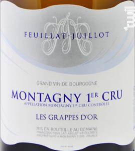 Montagny Premier Cru Les Grappes d'Or - Domaine Feuillat-Juillot - 2017 - Blanc