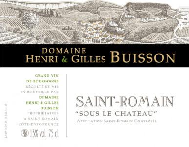 Saint-Romain Sous le Chateau - Domaine Henri & Gilles Buisson - 2017 - Blanc