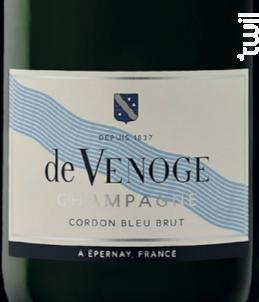 Cordon Bleu Brut - Champagne de Venoge - Non millésimé - Effervescent