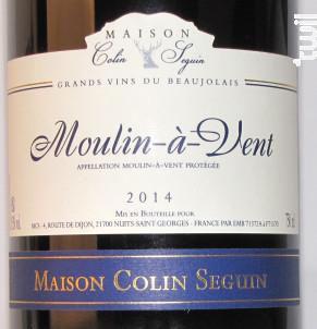 Moulin-à-Vent - Maison Colin Seguin - 2014 - Rouge