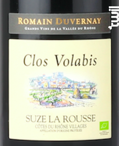 Clos Volabis Suze-la-Rousse - Romain Duvernay - 2018 - Rouge