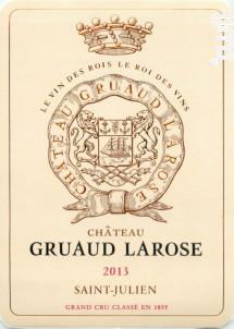 Château Gruaud Larose - Château Gruaud-Larose - 2013 - Rouge