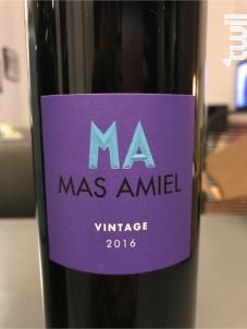 Vintage - Mas Amiel - 2016 - Rouge