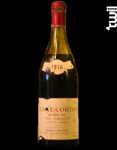 Aloxe-Corton 1er cru Les Vercots - Domaine Masson - 1978 - Rouge